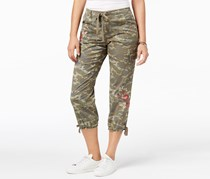 Style & Co. Women's Embroidered Capri Pants, Must Camo