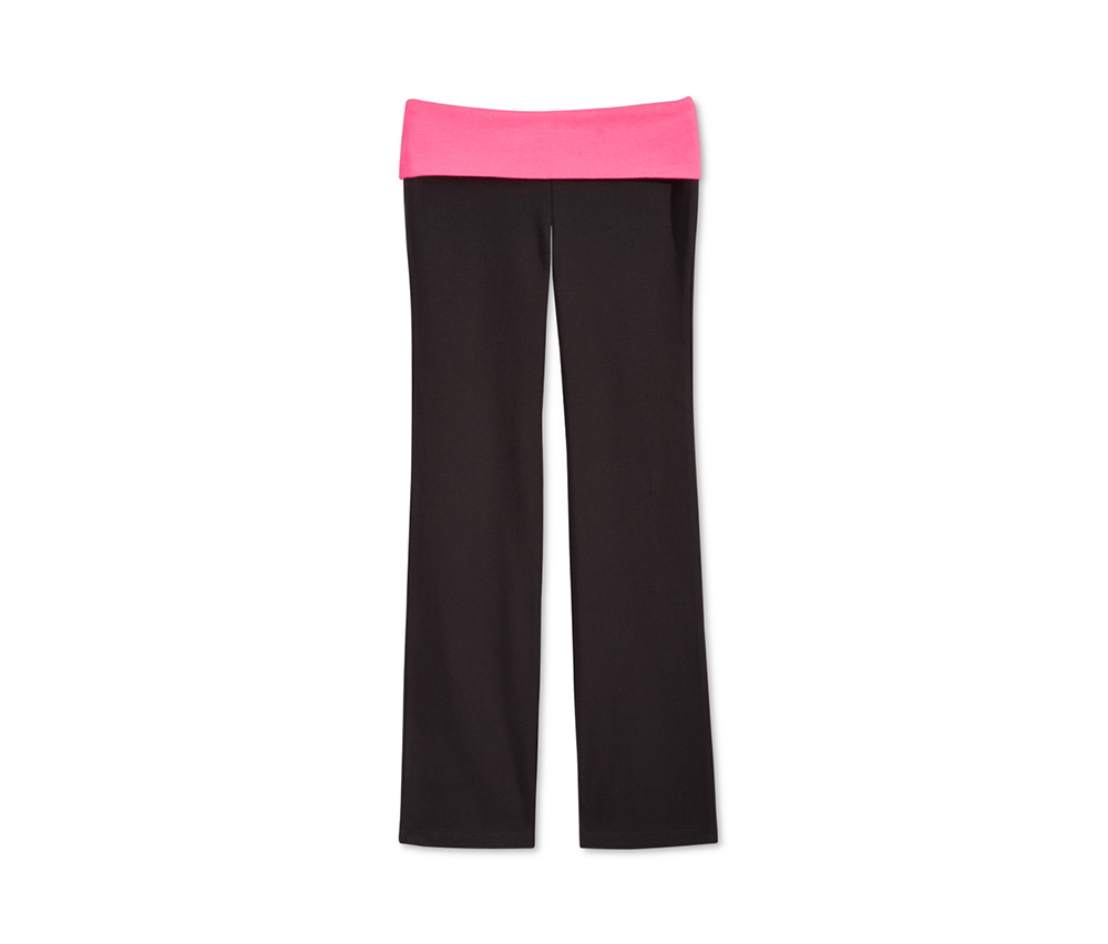 Ideology Girls Contrast-Waist Leggings, Black/Pink