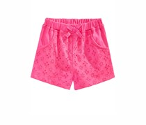 First Impressions Cotton Eyelet Shorts, Fiery Pink