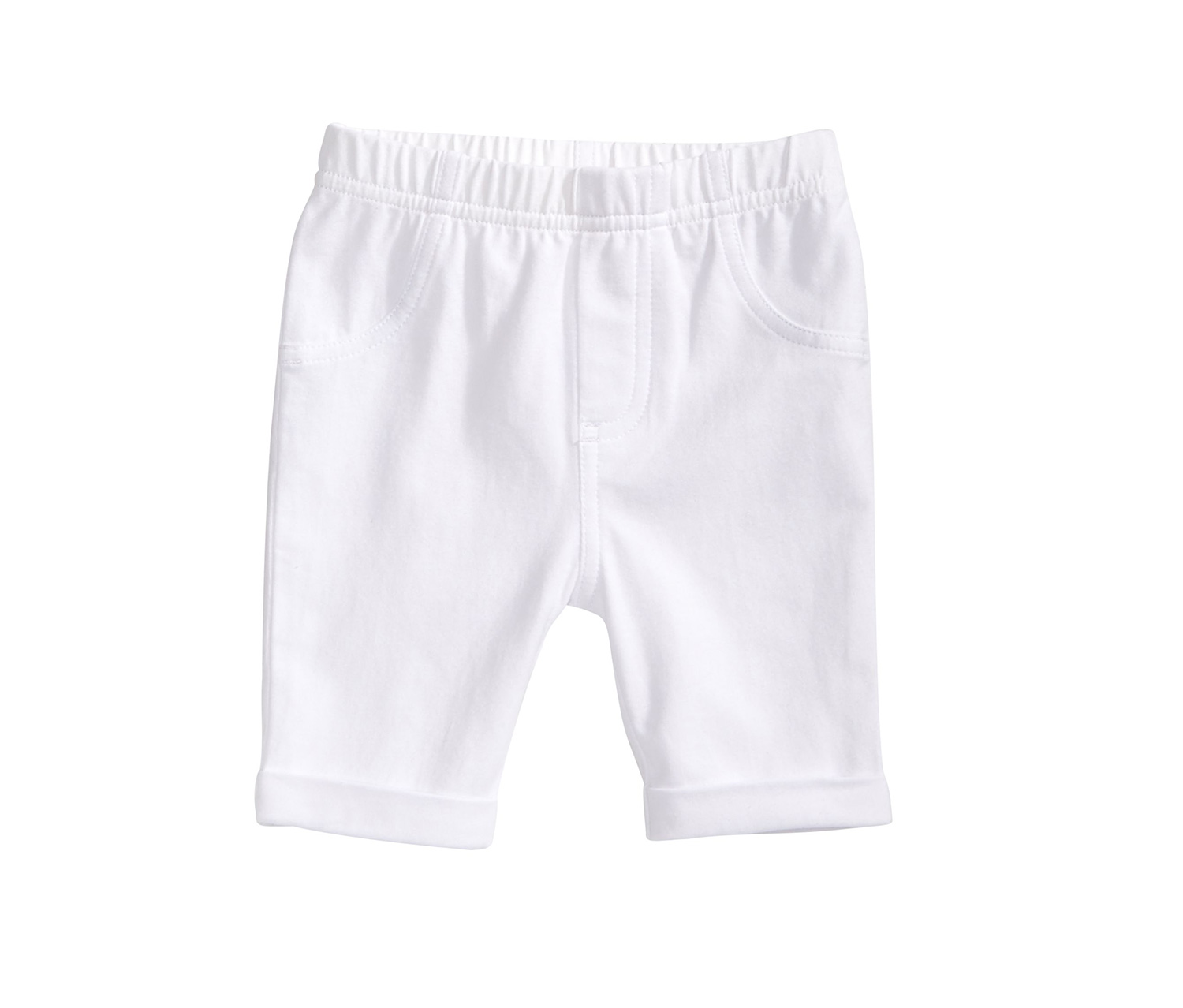 First Impressions Baby Girls Bermuda Shorts, White