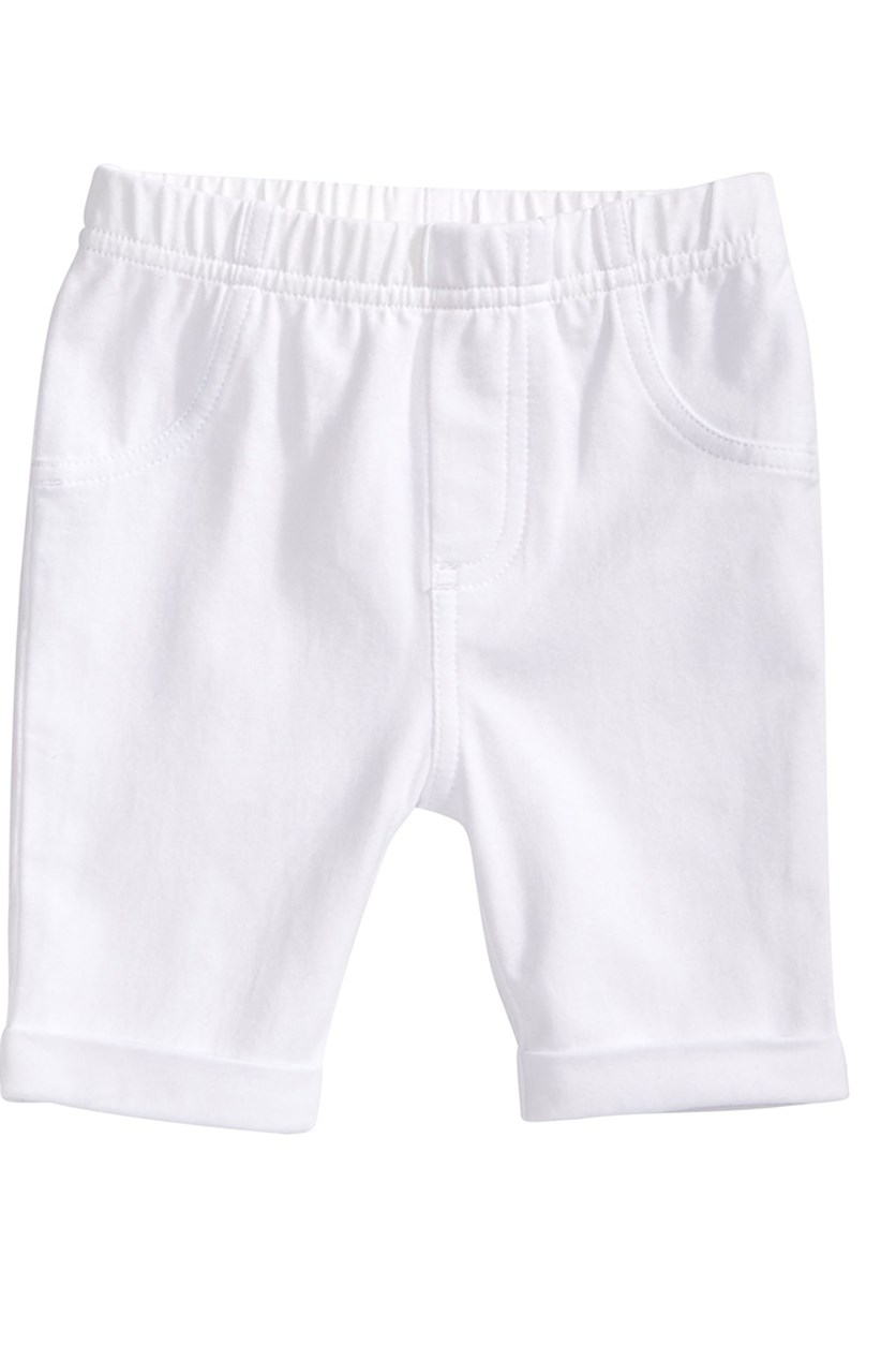 Baby Girls Bermuda Shorts, White