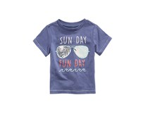 Toddlers Graphic-Print Cotton T-Shirt, Washed Indigo