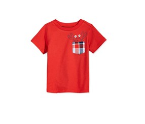 First Impressions Print Cotton T-Shirt,  Raging Red