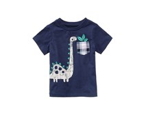 Toddlers Graphic-Print Cotton Shirt, Navy
