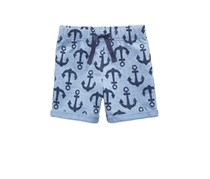Toddlers Anchor-Print Shorts, Mistic Blue