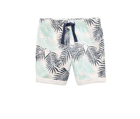 Toddlers Leaf-Print Shorts, Navy/Ivory Combo