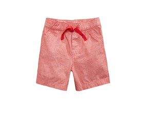 First Impressions Baby Boys Woven Cotton Shorts, Red Chambray