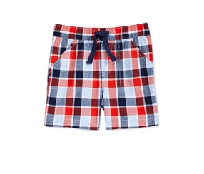First Impressions Baby Boys Woven Cotton Shorts, Ranging Red