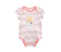 First Impressions Baby Girls Ice Cream Bodysuit, Paradise Pink
