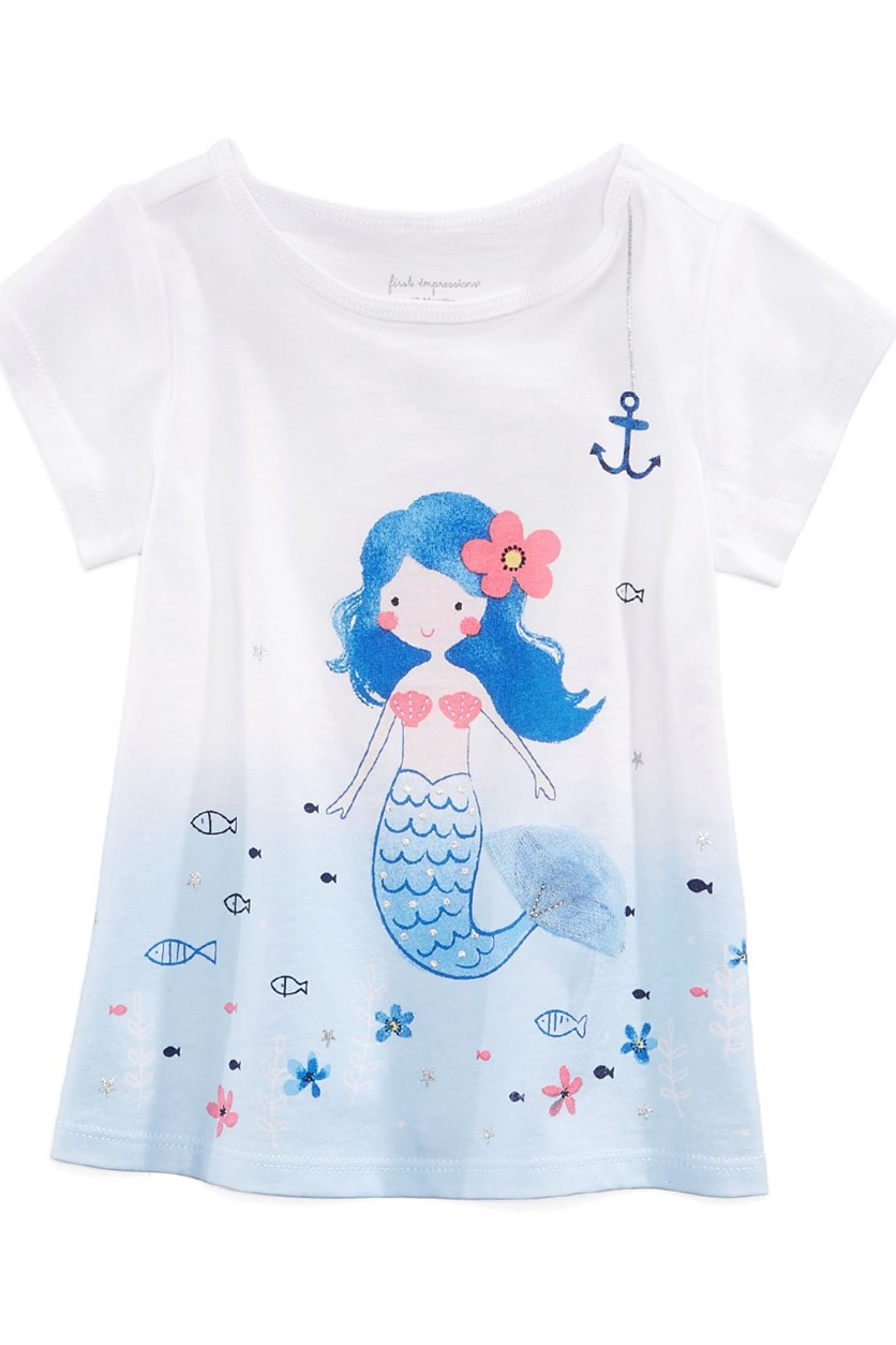 Toddlers  Graphic-Print T-Shirt, White/Blue