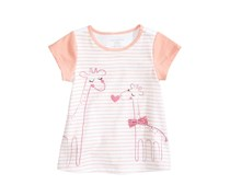 Toddlers Graphic-Print Cotton T-Shirt, White/Pink