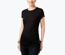 INC International Concepts Ruched T-Shirt, Deep Black