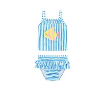 Toddlers 2-Pc. Striped Tankini Swim Suit, Bistro Blue