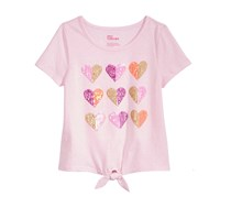 Epic Threads Sequin Hearts T-Shirt, Pink