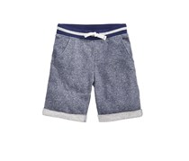 Boys Knit Shorts,  Blue Marble