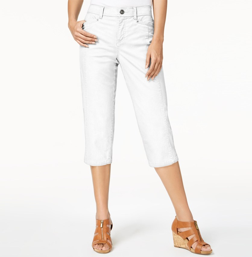 Petite Capri Pants, Bright White