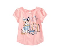 Epic Threads Bon Voyage T-Shirt Little Girl, Opal Blush