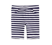 Kids Girls Striped Bermuda Shorts, White/Navy