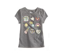 Epic Threads Little Girls Printed T-Shirt, Pewter Heather