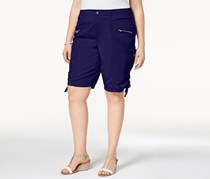 Style & Co Plus Size Zippered Cargo Short, Industrial Blue