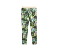 Kids Girls Butterfly-Print Leggings, Light Aqua Marine