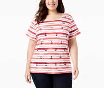 Karen Scott Plus Size Printed T-Shirt, New Red Amore