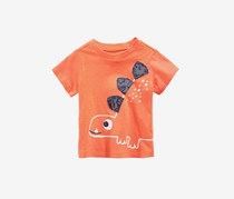 First Impressions Baby Boy Graphic-Print Cotton T-Shirt, Sherbet