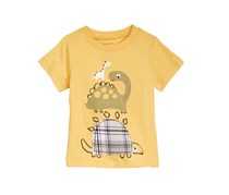 First Impressions Baby Boys Graphic-Print Cotton T-Shirt, Corn Silk