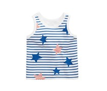 First Impressions Baby Boys Striped Cotton Tank Top, White/Blue