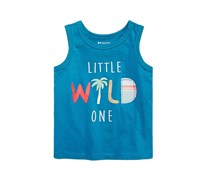 First Impressions Baby Boys Wild-Print Cotton Tank Top, Teal