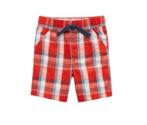 First Impressions Baby Boy Plaid Cotton Seersucker Shorts, Red