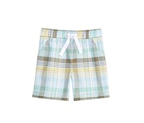 First Impressions Baby Boys Plaid Cotton Shorts, Bright White Combo