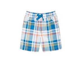 First Impressions Plaid Cotton Shorts, Euphoria