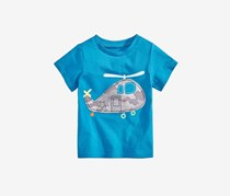 First Impression Baby Boys Cotton Helicopter T-Shirt, Euphoria