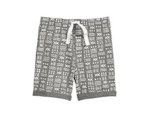 First Impressions Printed Shorts, Pewter Heather
