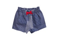 First Impressions Baby Girls Printed Cotton Shorts, Blue