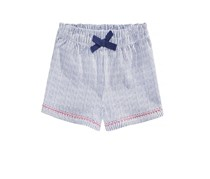 First Impressions Striped Cotton Shorts, Bright White/Navy