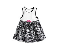 First Impressions Baby Girl Printed Cotton Dress, Grey Jewel