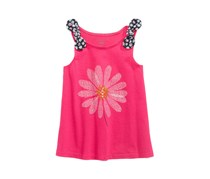 Baby Girl Graphic-Print Tank Top Tunic, Fiery Pink