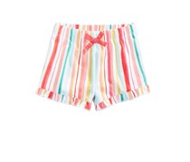 First Impressions Ruffled Cotton Shorts, Bright White