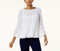 INC Bell-Sleeve Peasant Top, White
