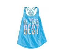 Ideology Girls Best-Print Strappy Tank, Carolina Sky