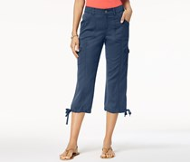 Style & Co Women's Cropped Cargo Pants, New Uniform Blue