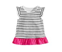 First Impressions Baby Girls Striped Cotton Tunic, White Combo