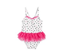 Toddlers 1-Pc. Heart-Print Tulle Swimsuit, Bright White/Pink