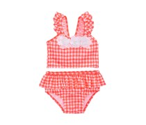 Toddlers  2-Pc. Gingham-Print Tankini, Neon Punch