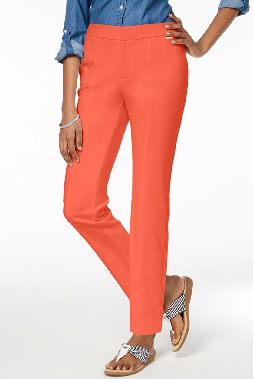 Women's Petite Ankle Slim Pants, Porcelain Rose