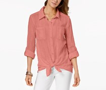 . Women's  Tie-Front Shirt, Rose Blossom