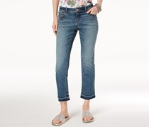 INC International Concepts Cropped Jeans, Evergreen Wash