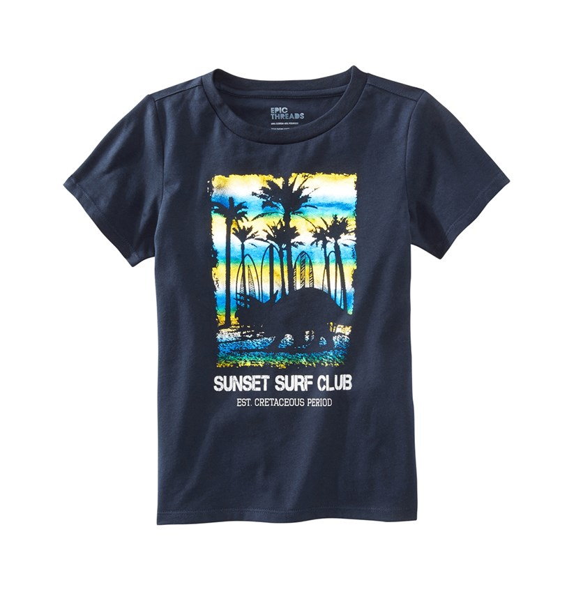 Graphic Print Tee, Total Eclipse